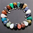 Charms Round Water Drop Natural Agate Crystal Stone Pendants For Jewelry 25pcs