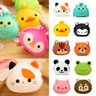 Women Girl Silicone Cartoon Animal Hasp Clutch Change Coin Purse Mini Wallet Bag image
