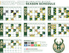 Milwaukee Bucks NBA Basketball Schedule 2019 Poster on eBay