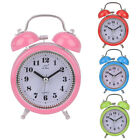 Desk Round Silent Cute Metal Alarm Clock Noctilucence Table Bedside  Bell
