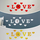 Love Shape Removable Wall Clock Gift Mirror Sticker 3d Home Decor Accessories