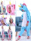 Unicorn Fleece Pyjama Kigurumi Kids Pajamas Costume Girls Costume Animal Onesie0