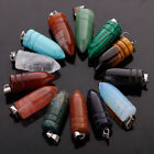 Natural Stone Quartz Bullet-shaped Charm Necklace Pendant For Jewelry 25pcs/lot