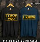 STAR WARS LEIA SOLO I LOVE YOU I KNOW T SHIRT VALENTINES DAY COUPLE MATCHING $19.95 USD on eBay