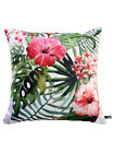 Set Of 2 Floral Tropical Print Square Cushion Cover Sofa Home Décor 12