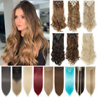 clearance au clip in 100 real natural as human hair extensions 8 pcs long wavy