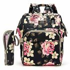 Внешний вид - Diaper Bag Backpack Mummy Baby Nappy Bag W/Insulated Bottle Bag Changing Pad US