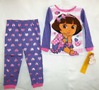 DORA the EXPLORER NICKELODEON INFANT TODDLER 2pc PAJAMA SET pink/purple