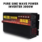 Power Inverter Pure Sine Wave Input DC12V To AC110/220V w/ LED Display 3000W New