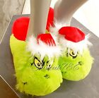 NEW Ladies DR SEUSS THE GRINCH Christmas indoor Slippers Primark 3D Novelty cosy