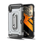 For Apple iPhone Xs Max Xr X Shockproof Card Slot Hard Case Cover+Tempered Glass