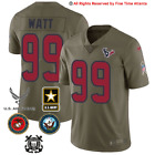 NEW JJ Watt Houston Texans Mens Olive Salute to Service Military Jersey Watson