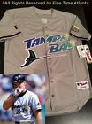 NEW Wade Boggs Tampa Bay Devil Rays Mens MN 1998 2000 Style Road Retro Jersey