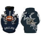 US Dallas Cowboys Sport Hoodie Sweatshirt Hooded Jumper Jacket Coat M-5XL