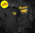 Indian Motorcycle t-shirt biker retro vintage motorbike cotton men's tee S-3XL; image