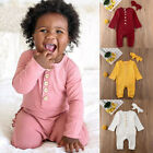 US Kids Baby Girl Boy Clothes Long Sleeve Knitted Romper Jumpsuit Overall Outfit