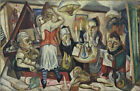 Art Fabric HD Print Oil Painting Max Beckmann Family Picture Wall Decor