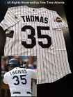 NEW Frank Thomas Chicago White Sox Mens Home White 2005 World Series Jersey