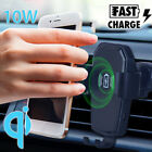 Qi Wireless Charger / Power Bank Automatic Clamping Car Air Vent Mount Holder
