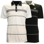 Adidas Golf Men's Black Stripe Polo Shirt NEW