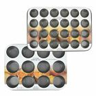 Mini Muffin Oven Tray Baking Dish Non Stick Silicone Cupcake Mould Steel Kitchen