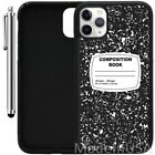 Custom Case For iPhone 11 Pro MAX XR XS MAX 7 8 Plus Composition Notebook Funny