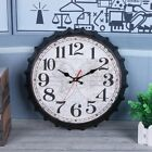 American wooden vintage mute wall clock kitchen living room bedroom office gift