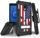 Rugged Case + Belt Clip Combo for Alcatel TCL LX (A502DL) - Patriotic Series