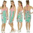 VOODOO VIXEN GREEN / PINK WIGGLE PENCIL ROCKABILLY VINTAGE DRESS  SIZE 8