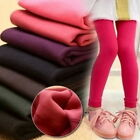 Kids Girls Winter Warm Thick Fleece Thermal Leggings Stretchy Trousers A4077