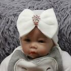 Soft Baby Girl Infant Colorful Striped Hat With Bow Cap Newborn Beanie Cute
