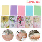 15Pcs Disposable Travel Soap Paper Washing Hand Clean Scented Slice Sheets