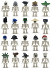 LEGO NEW WHITE SKELETON MINIFIGURES YOU PICK CASTLE PIRATE MORE DRESS YOUR FIGS $3.99 USD on eBay