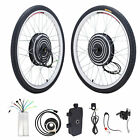 "26"" Electric Bicycle Motor Conversion Kit 500/1000W Front Rear Wheel E Bike Hub"