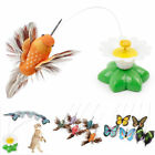 2Pcs Electric Rotating Butterfly Bird Rod Wire Cat Teaser Play Toy For Pet Cat##