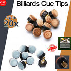 UP20x Commercial Quality Soft Pool Snooker Billiards CUE TIPS Screw On Type 10mm $6.88 AUD on eBay