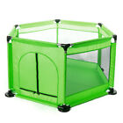6 Sided Baby Playpen Playinghouse Yard Interactive Kid Toddler Room +Safety Gate