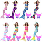 Girls Swimsuit Mermaid Tail For Swimming Tropical Bikini Masquerade Pool Party