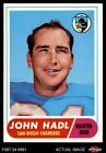 1968 Topps #63 John Hadl Chargers Kansas 6 - EX/MT $2.6 USD on eBay