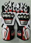 Ducati Corse MotoGp Leather Motorbike Leather Gloves All Sizes Available