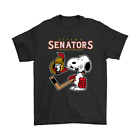 Ottawa Senators Ice Hockey Broken Teeth Snoopy NHL Funny Black T-Shirt S-6XL $13.99 USD on eBay
