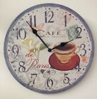 30cm Home Kitchen Round Wall Clock - Various Designs - Flowers - Sport - Cafe