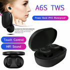 A6S TWS Stereo Earphone Wireless Bluetooth Sports Headset for For Android IOS
