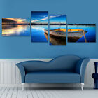 Kyпить 4Pcs Framed Lake Boat Modern Canvas Print Art Painting Wall Picture Home Decor на еВаy.соm