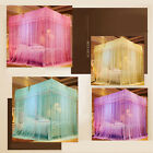 Four Corner Mosquito Net Bed Home Bedding Lace Canopy Princess Netting King Size image