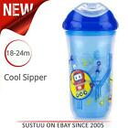 Nuby Insulated Cool Sipper Toddler Cup Drinking Container Beaker Pink Blue Green