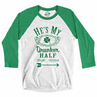 Hes My Drunker Half Raglan Funny Couples Saint Patricks Day Matching T Shirt