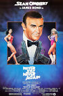 Posters USA - 007 Never Say Never Again Movie Poster Glossy Finish - PRM076 $11.95 USD on eBay