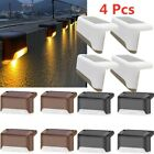 4pcs Wall Lamp Creative Fashion Chic Solar Power Stairs Lamp LED Landscape Lamp