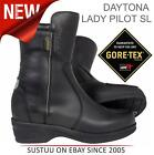 Daytona Lady SL Pilot GTX Motorcycle Goretex Women Leather Boots│Black│All Sizes